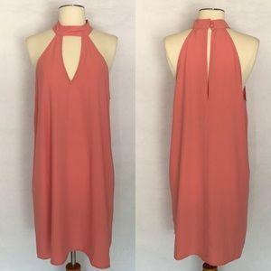 Leith dress, pink keyhole dress size medium